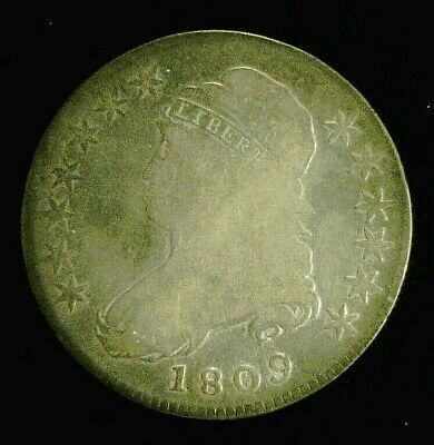 1809 CAPPED BUST SILVER HALF 50c    (8946)