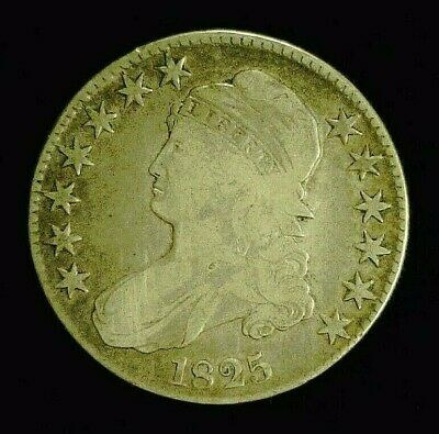 1825 CAPPED BUST SILVER HALF 50c    (8947)