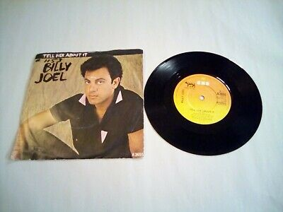 Billy Joel tell her about it 7inch  Vinyl single very good condition+