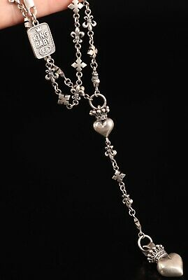 Rare Chinese 925 Silver Solid Silver Genuine Silver Necklace Old Handmade Solid