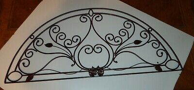 Classic Large ARCH Scroll Wrought Iron Metal Wall Decor burnt copper finish