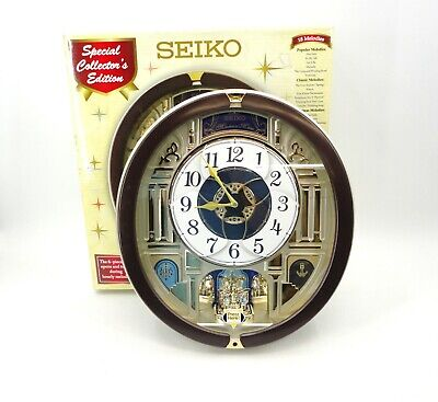 """Seiko Regal Melodies In Motion 15"""" Wall Clock In Original Box Plays 18 Melodies"""