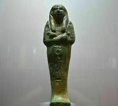 Rare ancient egyptian antique faience Ushabti 1069-332 bc