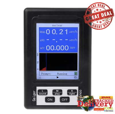 New Geiger Counter Nuclear Radiation Detector Personal Dosimeter Tester