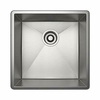Rohl RSS1515SB 16-Inch Undermount 16-Gauge Kitchen -O7
