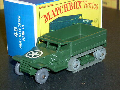 REPRO BOX MATCHBOX 1:75 n 49 Army Half Track Mark III
