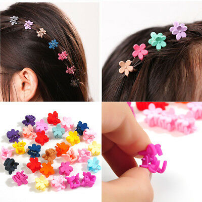 30Pcs Mini Fashion Hair Clip Baby Girl Plastic Cartoon Hair Claw Clips Clamp JT