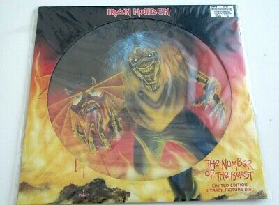 """Iron Maiden NUMBER OF THE BEAST 2005 12""""  Three Track Picture Disc SEALED MINT"""
