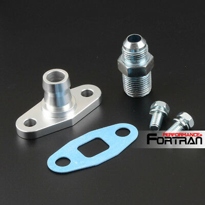 Precision Turbo Billet Oil Fitting Kit 3AN Str Feed Fits ALL Square Drain PTE/'s