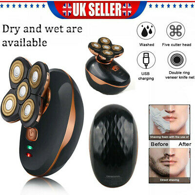 5In1 4D Rechargeable Electric Razor Shaver Waterproof Cordless Trimmer Bald Head