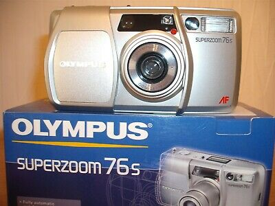 Boxed Olympus Superzoom 76S 35Mm Film Camera~38-76Mm Zoom Lens~Self Timer (Mm6)