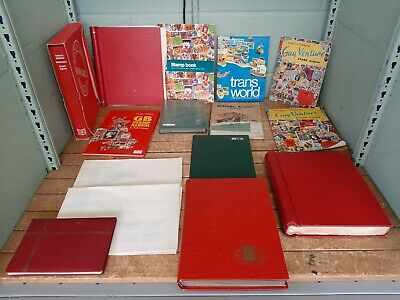 Job Lot 13 Stamp Albums Worldwide Stamps 53C