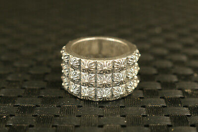 32g old chinese S925 silver hand flower ring collectable girl fine fashion gift