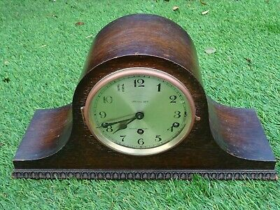 Nice Old Napoleon Shaped Westminster Chime Mantel Clock.