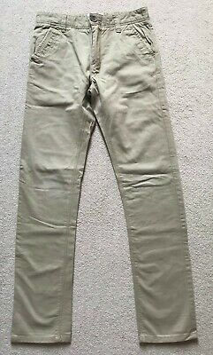 NEXT Boys Beige Stone Chino Trousers Size 13 years 158cm Excellent Condition