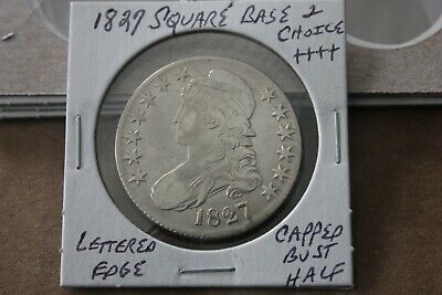 1827  Lettered Edge  Square Base 2  Choice+++  Capped Bust Half Dollar