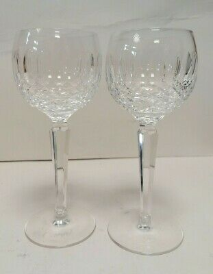 Pair Waterford Colleen Hock Glasses 1960's Discontinued design £170 in Harrods!