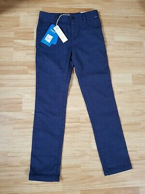 Ted Baker Boy Navy Trousers Jeans Cuppa Chino Age 10 BNWT Stretch Fit Slim