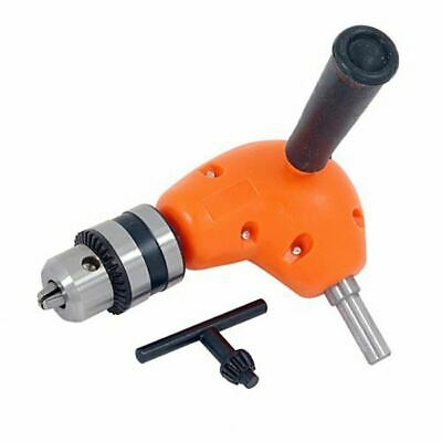 Right Angle Drill Attachment Chuck Key & Handle Adapter