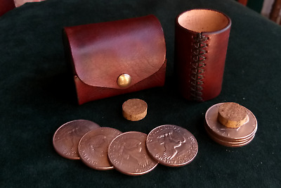 John Ramsay's cylinder leather one dollar eisenhower coins in box magic trick