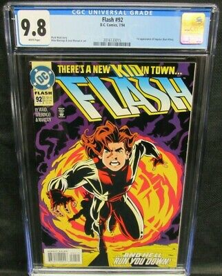 Flash #92 (1994) Key 1st Appearance Impulse CGC 9.8 White Pages CW848