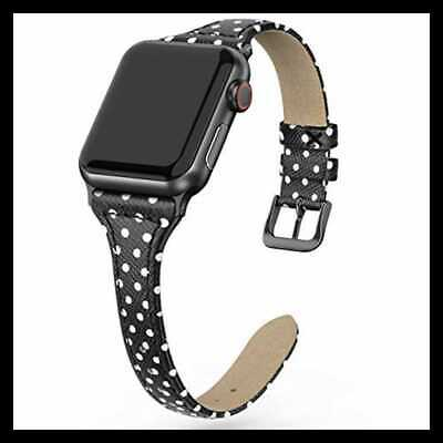 Leather Band Compatible For Apple Watch Iwatch 38Mm 40Mm Slim Thin Dressy Elegan
