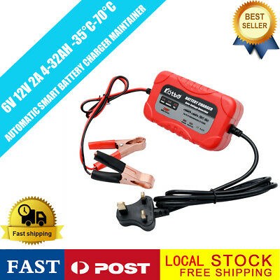 Heavy Duty Car Van Battery Charger 6V/12V 2A Flame retardant SUV 4Stage Charging