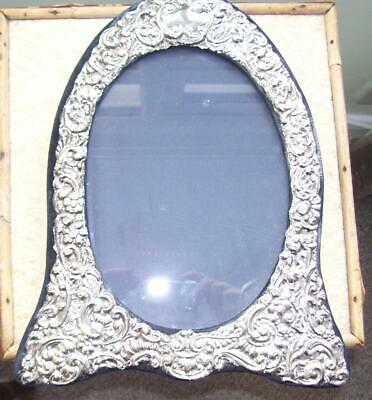 Fine Large Antique Victorian Solid Silver Picture Photograph Frame w Easel Back