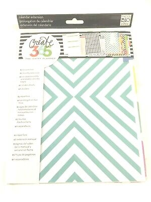 CREATE 365 HAPPY PLANNER 6 Month Calendar Extension New in Sealed Package