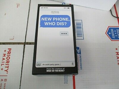 New Phone, Who Dis? Npwd411 Card Game New In Open Box Cards Are Sealed