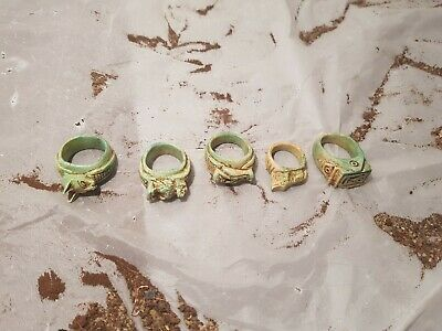 Rare Antique Ancient Egyptian 5 Rings Amulets protection Gods 1640-1570BC
