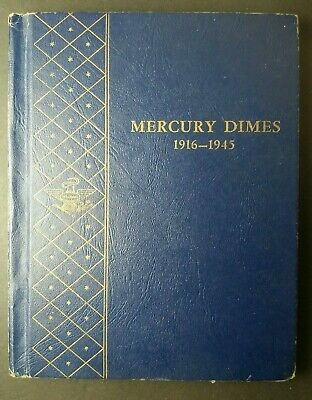 Whitman Book with 74 10c Winged Liberty 'Mercury' Dimes