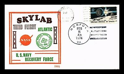 Dr Jim Stamps Us Skylab Third Flight Navy Recovery Space Event Cover 1974