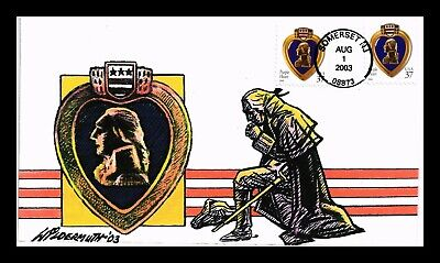 Dr Jim Stamps Us Purple Heart First Day Cover Wildermuth Limited Edition
