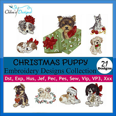 Xmas Puppies Puppy Collection Machine Embroidery Designs On Cd Usb Christmas