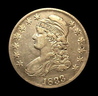 1833 Capped Bust Half Dollar - XF - Gorgeous Type Piece - Lettered Edge