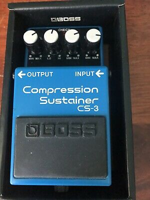 Boss CS-3 Compressor Sustainer Effects Pedal Compression Sustain Slightly Used