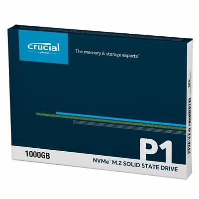 Crucial P1 1TB 3D QLC NAND PCIe M.2 2280 NVMe Solid State Drive SSD CT1000P1SSD8