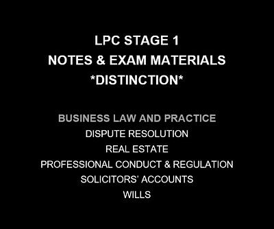 Business Law and Practice | LPC NOTES & EXAM MATERIALS 2019/20 | Distinction