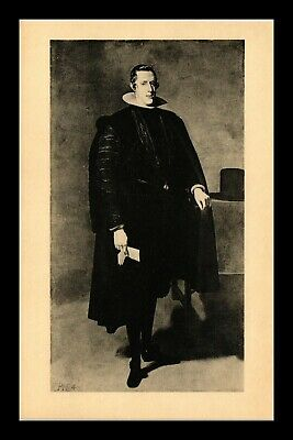 Dr Jim Stamps Us King Philip Iv Of Spain Painting Boston Massachusetts Postcard