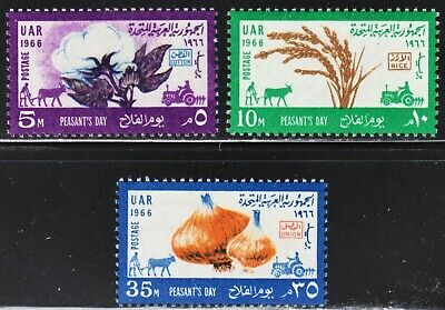 Egypt Scott 704-706 complete set F to VF mint OG H.