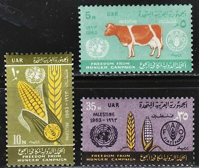 Egypt Scott N93-N95 complete set  F to VF mint OG NH.