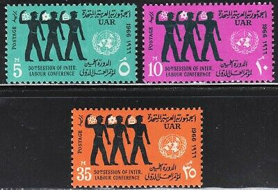 Egypt Scott 694-696 complete set F to VF mint OG NH.