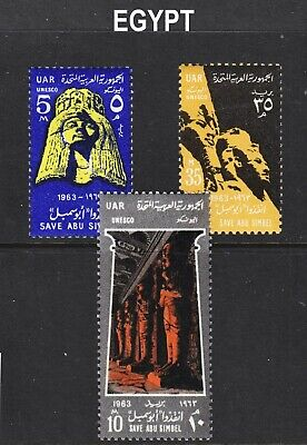 Egypt Scott 590-592 complete set F to VF mint OG H or HR.