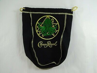"Custom Crown Royal Med Sz 8-9/"" Cthulhu Black Dice Stash Bag HP Lovecraft Magic"