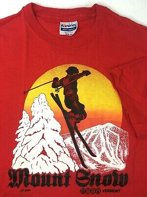 Vintage 1984 Mount Snow Vermont T Shirt Adult Size Medium / Small Made In USA