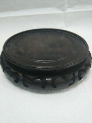 Antique Chinese Wooden Hand Carved Stand for Display Vase Bowl Pot Jar