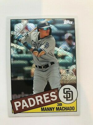 2020 Topps Baseball Series 1 Manny Machado 1985 Chrome Refractor 85C-32