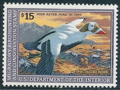 Dr Jim Stamps Us Department Of Interior Duck Scott Rw59 $15 Unused Og Nh