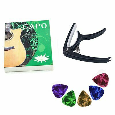 Premium Capo Quick RELEASE Trigger Clamp for Acoustic Electric Classic Guitar